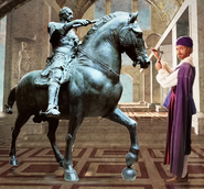 Donatello Craving the Equestrian statue of Gattamelata