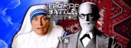 Mother Teresa vs Sigmund Freud Facebook Banner