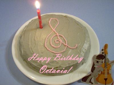 Octavia Cake with text