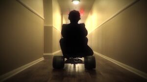 Overlook Hotel Tricycle Shot