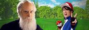 Ash Ketchum vs Charles Darwin Twitter Banner