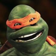 Michaelangelo (Turtle) In Battle
