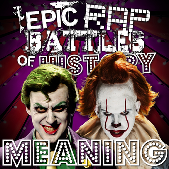the joker vs pennywise rap meanings epic rap battles of history