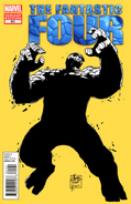 A fantastic four thing comic cover