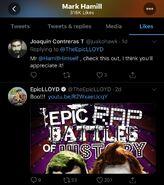 Mark Hamill liked Joker vs Pennywise