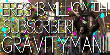 ERB's 13 Millionth Subscriber