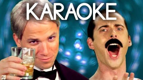 KARAOKE ♫ Frank Sinatra vs Freddie Mercury. Epic Rap Battles of History
