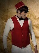 "Justin Bieber In ""Little White Usher"" Costume"