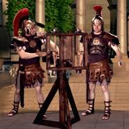 Roman Soldiers with Ballista