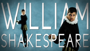 William Shakespeare Title Card
