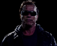 Announcer as Arnold Schwarzenegger