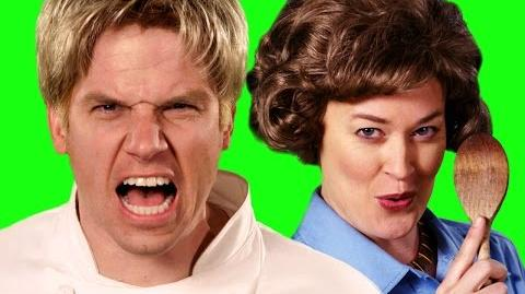 Gordon Ramsay vs Julia Child - Behind the Scenes of Epic Rap Battles of History