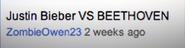 Justin Bieber vs Beethoven Suggestion