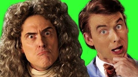 Sir Isaac Newton vs Bill Nye. Behind The Scenes of Epic Rap Battles of History Season 3.