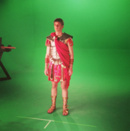 Peter as Caesar Behind the Scenes
