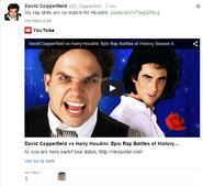 David Copperfield Tweet