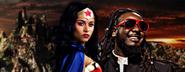 Wonder Woman vs Stevie Wonder Facebook Banner