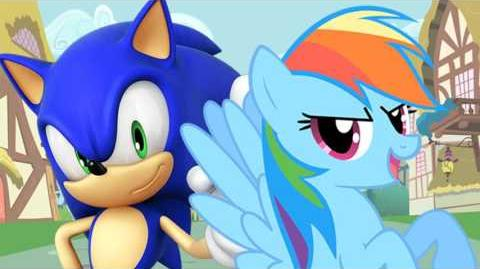 User Blog Tkandmit Sonic The Hedgehog Vs Rainbow Dash