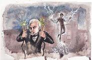 Tesla vs Edison Drawing