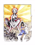 Cleopatra vs Marilyn Monroe Drawing