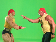 Real Hulk Hogan And Nice Peter As Hulk Hogan