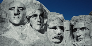 Mount Rushmore Theodore Roosevelt vs Winston Churchill