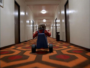 Overlook Hotel Tricycle Shot Based On