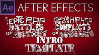 (2.0 UPDATE) After Effects Template Epic Rap Battles of History Intro