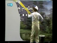 Bob Ross Painting the Background Example