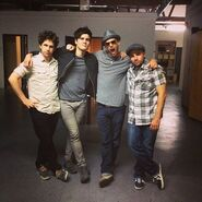 Ian and Anthony with Peter and Lloyd
