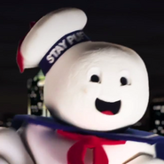 The Stay Puft Marshmallow Man In Battle