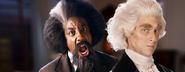 Frederick Douglass vs Thomas Jefferson Banner