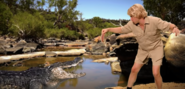 Steve Irwin Feeding Crocodile