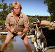 Steve Irwin With Kangaroo
