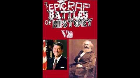 Epic Rap Battles of History FAN BATTLE Ronald Reagan vs Karl Marx