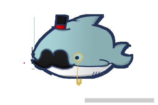 Image - Sophisticated shark by crimnsonred-d5tz99k.png