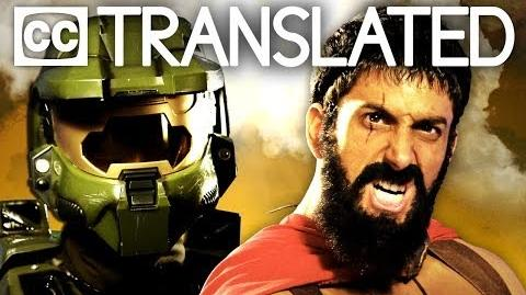 TRANSLATED Leonidas vs Master Chief. Epic Rap Battles of History.