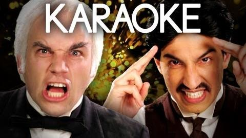 KARAOKE ♫ Nikola Tesla vs Thomas Edison. Epic Rap Battles of History