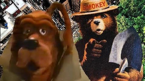 Smokey Bear VS McGruff The Crime Dog - Dragon Rap Battles 62