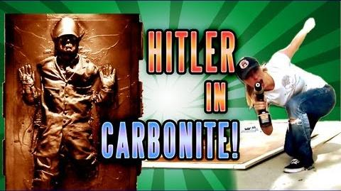 Making HITLER FROZEN in CARBONITE Epic Rap Battles behind the Scenes