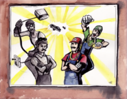 Mario Bros vs Wright Bros Drawing