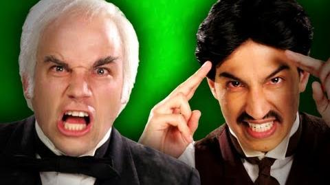 Epic Rap Battles Of History - Behind the Scenes - Nikola Tesla vs Thomas Edison