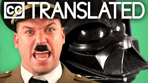 TRANSLATED Vader vs Hitler. Epic Rap Battles of History