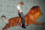 Napoleon Dynamite On His Liger