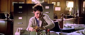 Janine's desk