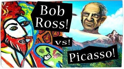TIMELAPSE ART - Bob Ross VS Pablo Picasso
