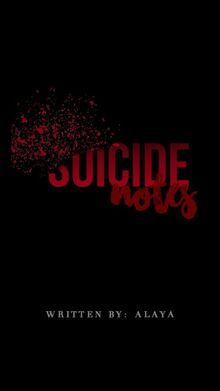 The suicide notes cover