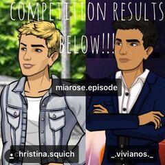 The Instagram competition results of the ship names: Ravemme and Trichel.