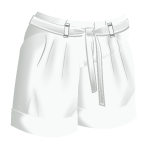 White Pleated Shorts