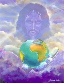 God holding world